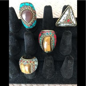 Totally Cute Boho Chic Rings-All May Vary Slightly